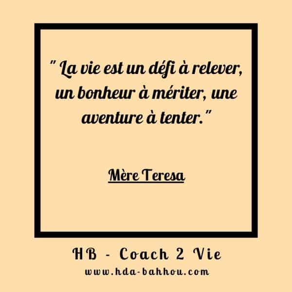 citation positives coach pnl Mère Teresa